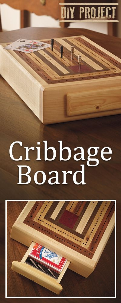 This DIY Cribbage Board will become a sentimental addition to your family game nights!