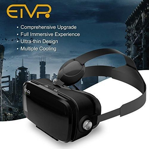 More Lighter More Fashion -ETVR 3D Upgraded Virtual Reality Glasses Immersive VR Headset With Adjustable Straps With Large Screen Experience (4.5-6.2 Inches )