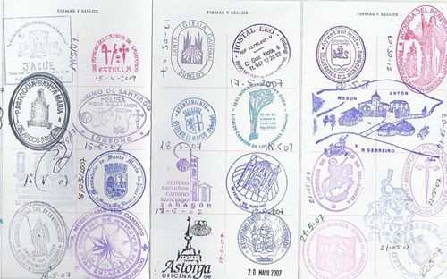 """cant wait to get and fill mine!!!  -""""Pilgrim's passport"""" for the Camino."""