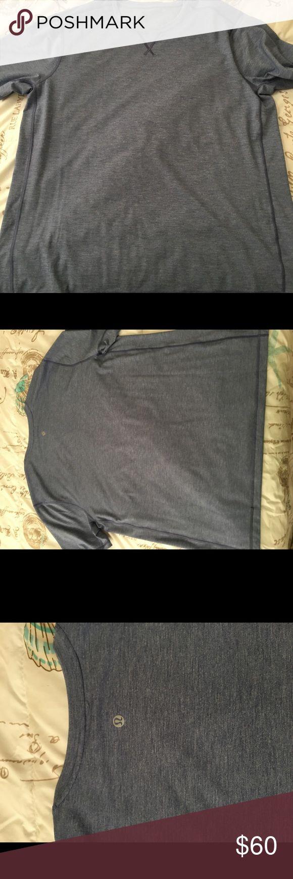 Men's lululemon xxl blue New men's lululemon xxl lululemon athletica Shirts