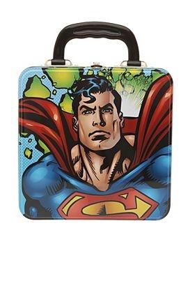 DC COMICS SUPERMAN SQUARE TIN TOTE