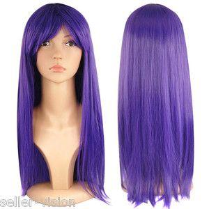 """Women Size 18"""" Full Long Fancy Dress Wigs Straight Cosplay Costume Wig Party   eBay"""