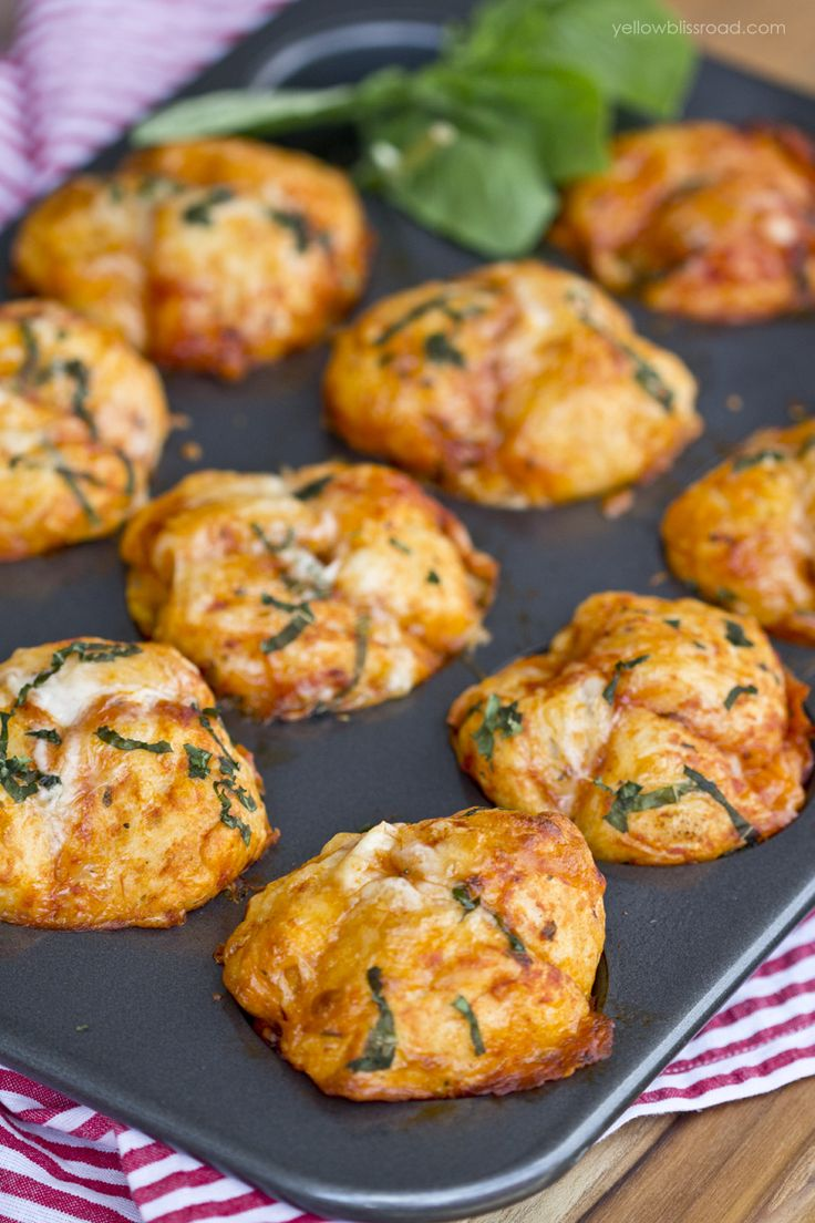 Pizza Pull Apart Muffins. Can also follow recipe on Tip Hero videos.