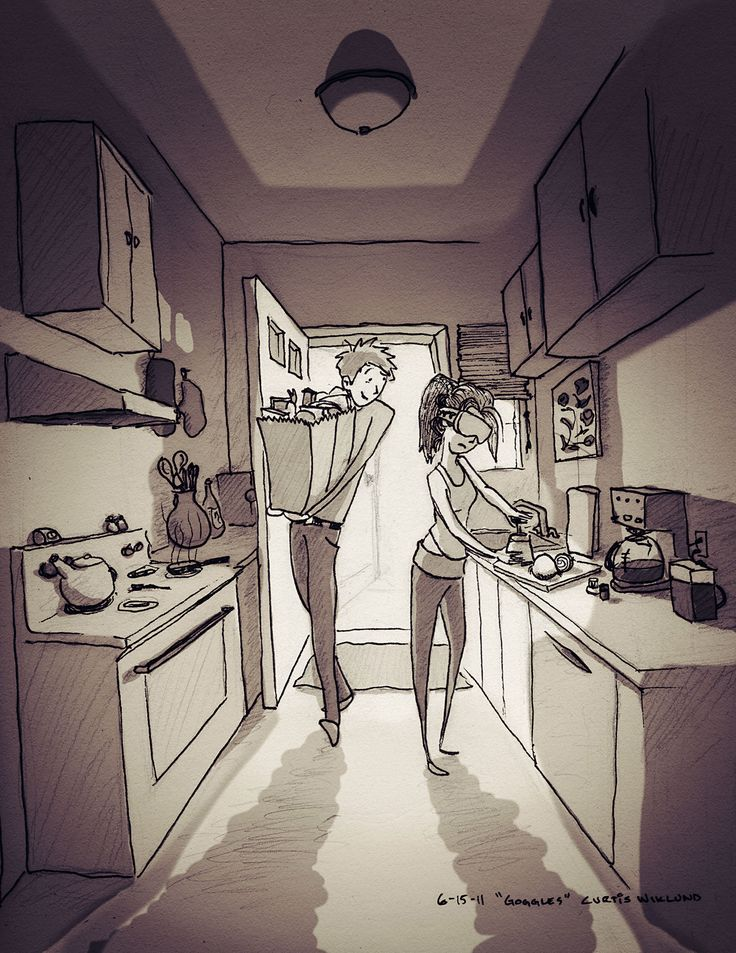 The cutest set of drawings ever. This guy has an entire blog dedicated to drawings of his life with his other half. It's adorable.