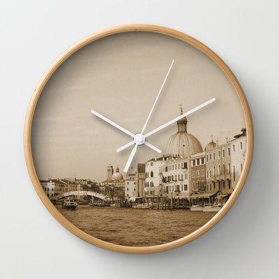 Venezia - Venice, Italy Wall Clock by clickybird - Belinda Gillies - $30.00