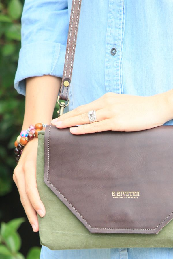 R. Riveter bags are made by the hands of spouses wherever the military takes them.
