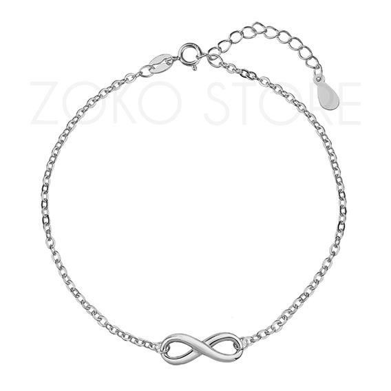 Srebrna bransoletka celebrytka ze znakiem nieskończoności <3 #bransoletka #celebrytki