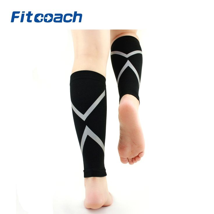 One Pair Calf Compression Sleeve, Footless Socks Shin Splint / Leg Compression Sleeves Calves & Leg Cramps for Runners