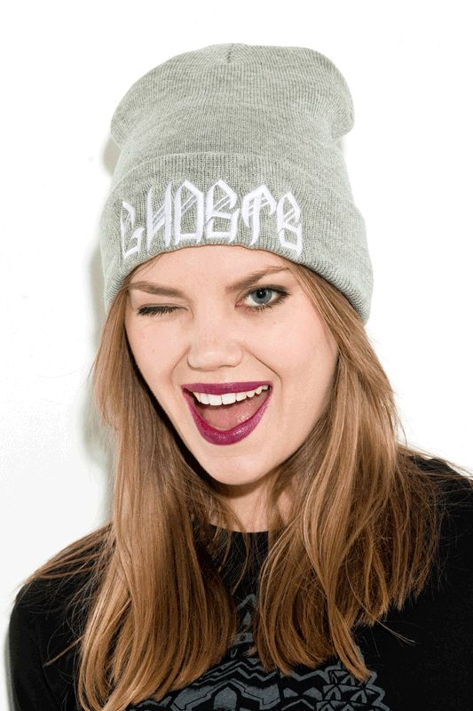 the GHOSTS gray toque by Young Ghosts