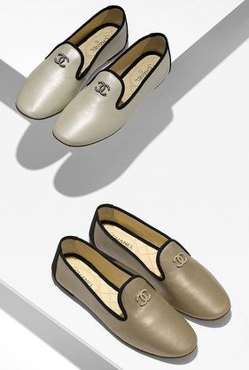 Loafers, iridescent lambskin-gold - CHANEL