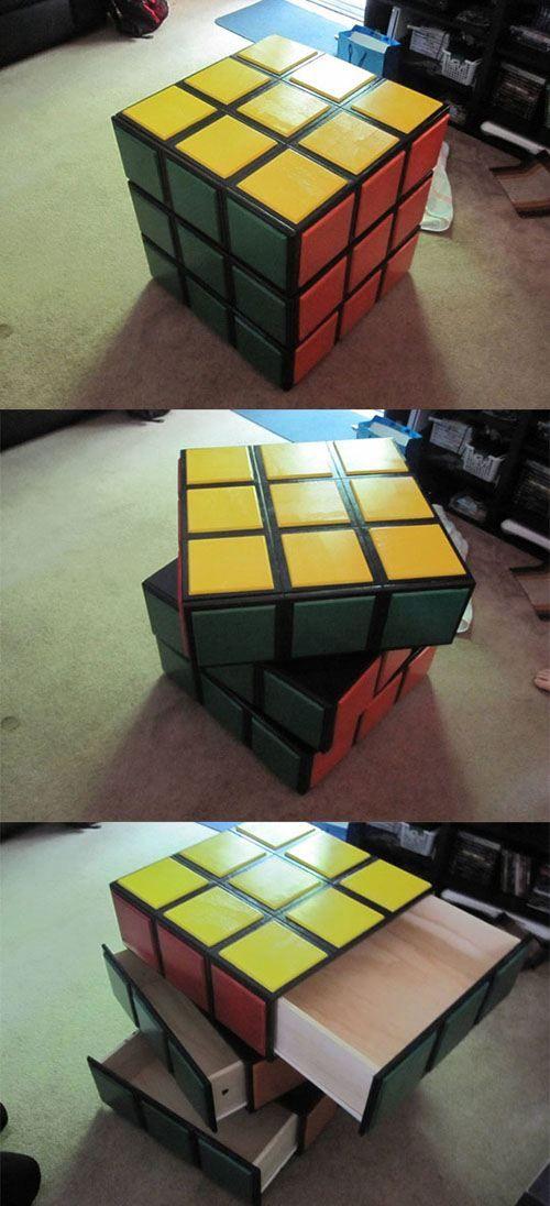 Awesome rubix cube night stand!