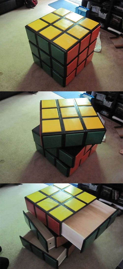 I want this!Rubix Cubes, Awesome Rubix, Games Room, Rubik Cubes, Awesome Rubik, Cubes Dressers, Future Kids, Night Stands, Cubes Drawers