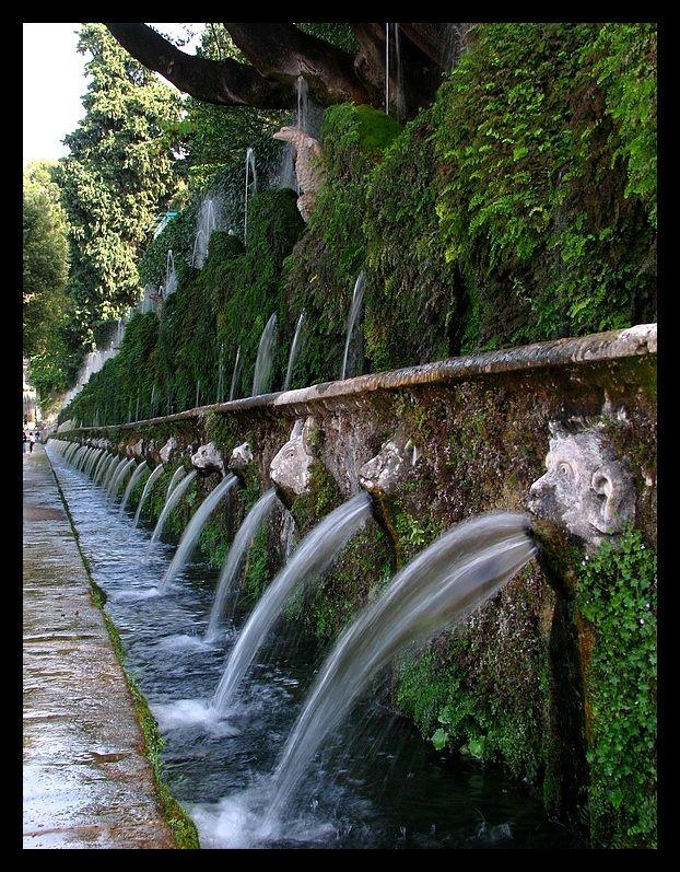 The hundred fountains, Villa d'Este,Tivoli, Italy