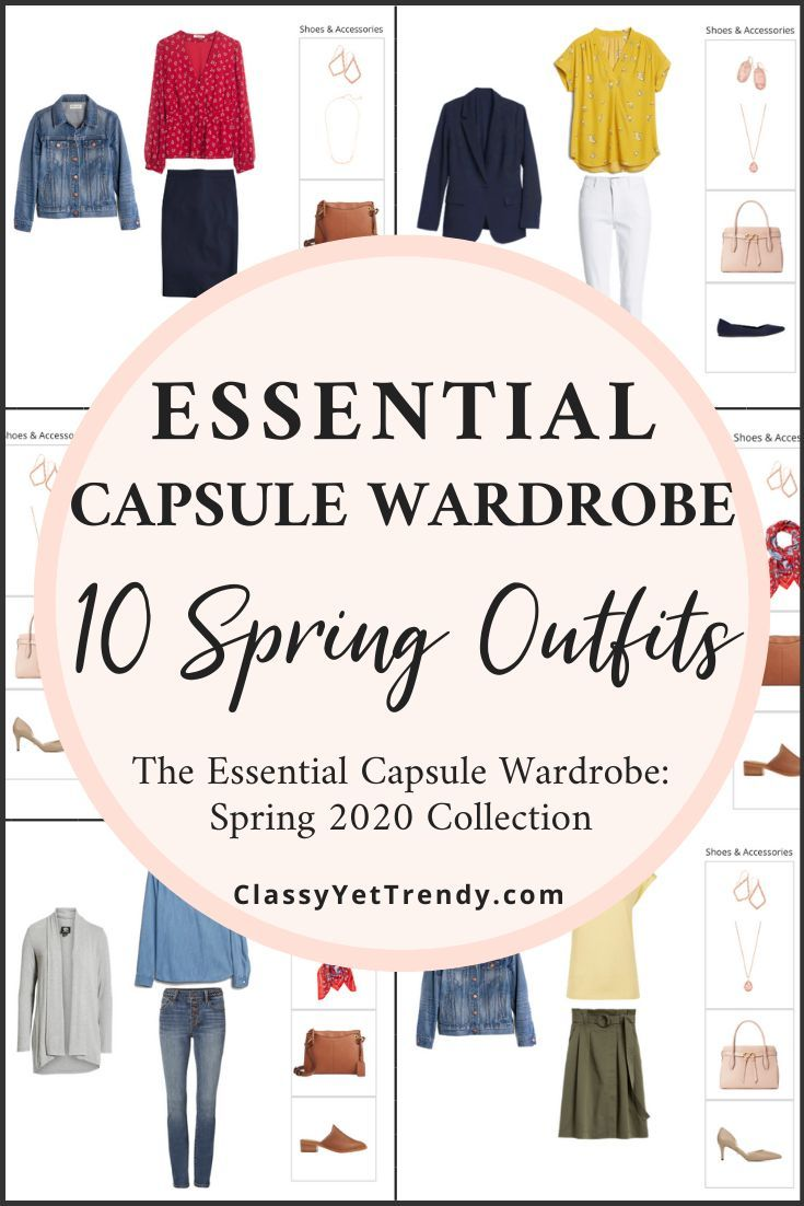 The Essential Capsule Wardrobe Spring 4 Preview + 4 Outfits