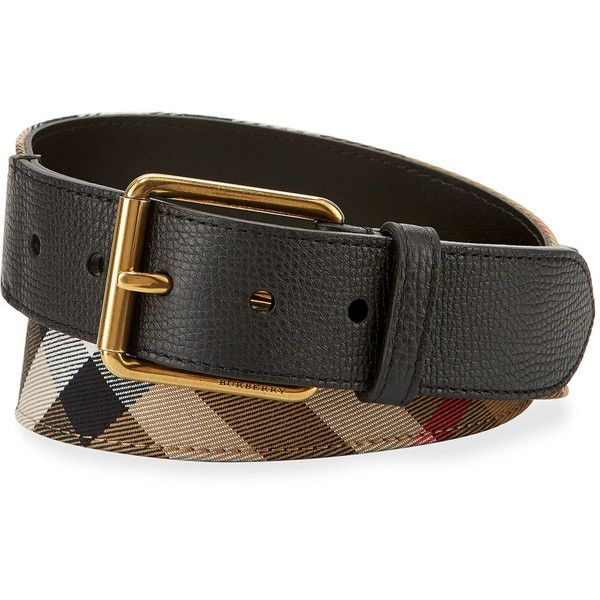 Burberry Mark House Check Belt ($275) ❤ liked on Polyvore featuring men's fashion, men's accessories, men's belts, camel, mens woven belts, mens braided belts and burberry mens belt