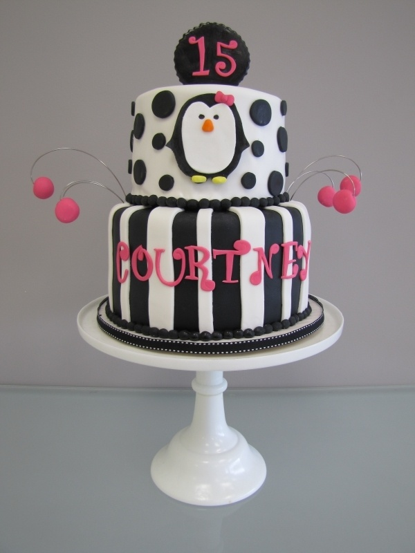 Penguin Birthday Cake by mdgosnell on Cake Central