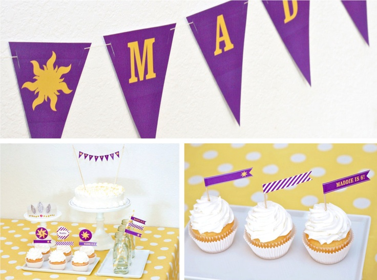 cute ideas for a Rapunzal party