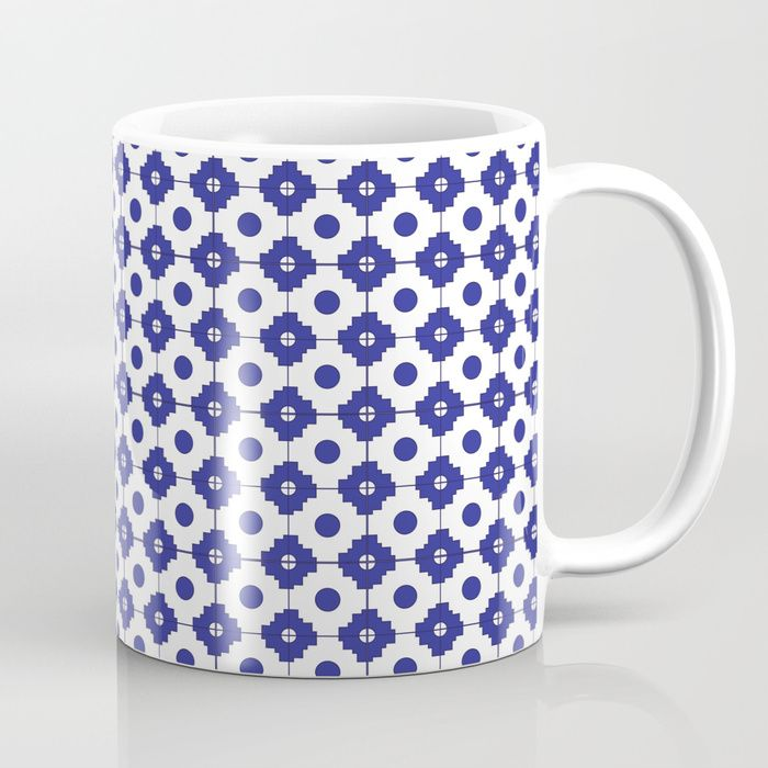 Mediterranean tiles pattern Coffee Mug
