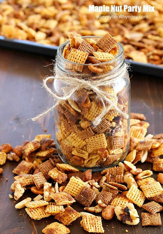 Maple Nut Party Mix
