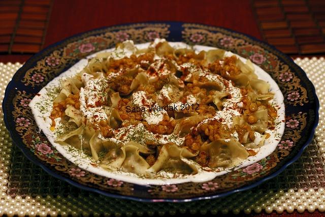 Mantoo: Traditional Afghan Dumpling dish. My fav. food!!