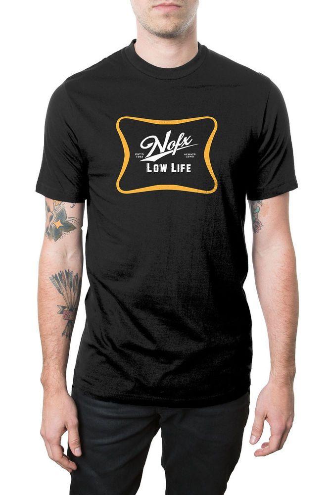 NOFX - Low Life Black Logo T-shirt - BRAND NEW - Medium #nofx #punkrock