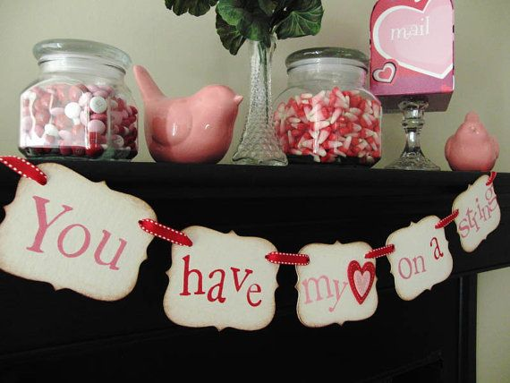 swagValentine Banners, Heart Banners, Valentine Day, Banners Garlands, My Heart, Valentine Decorations, Air Valentine, Valentine Ideas, Banners Cut