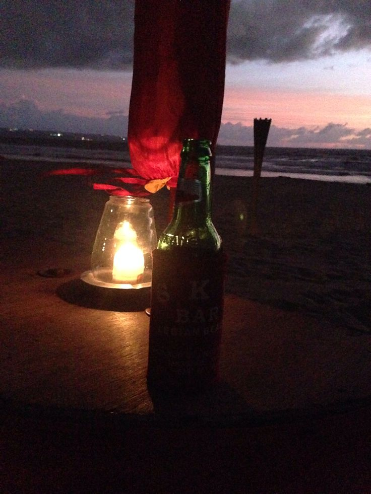 Enjoyed the moment. Beer with sunset. #Sunset #Beach #Nature #Vacation #Bali