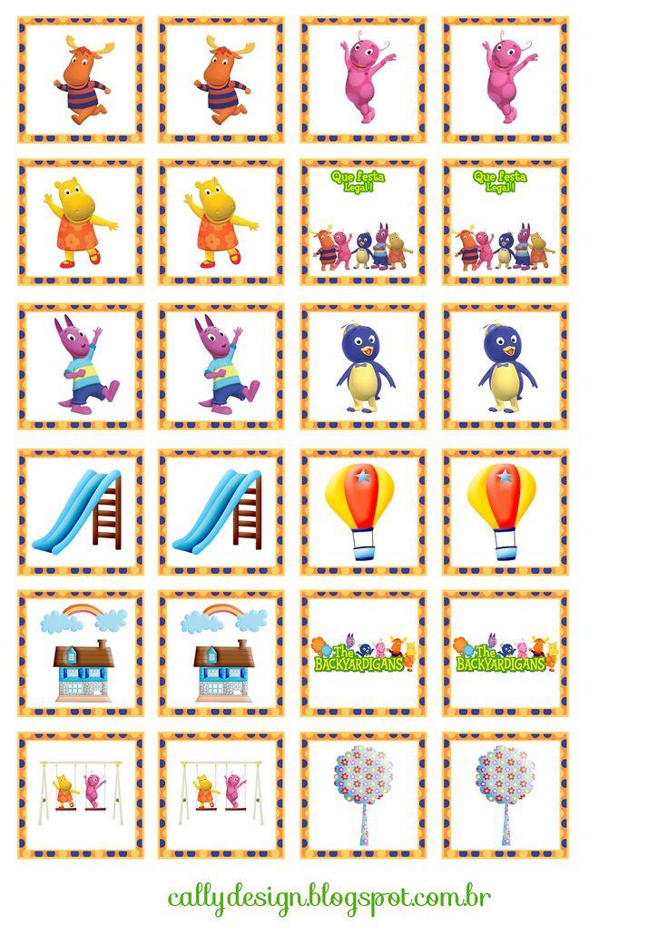 CALLY'S DESIGN-Kits Personalizados Gratuitos: Quebra Cabeça e Jogo da Memória Personalizados para Imprimir