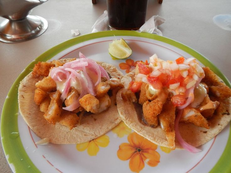 Tacos de camarón empanizado