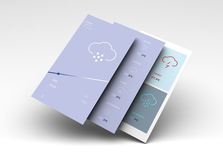weather app concept on Behance