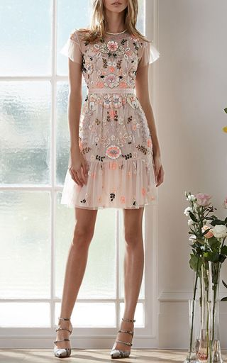 Floral Embroidered Tiered Dress by Needle & Thread for Preorder on Moda Operandi