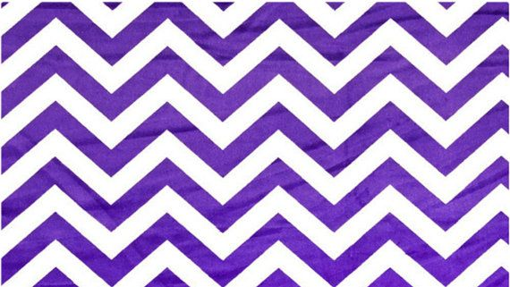 Purple White Chevron Minky Purple White Blanket Chevron