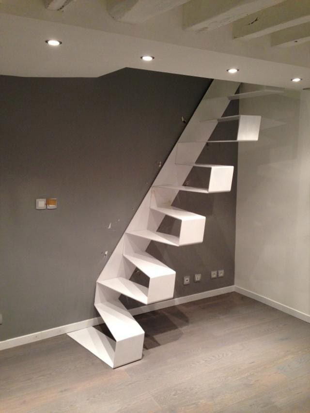 17 best images about escaliers on pinterest stairs floating stairs and compact. Black Bedroom Furniture Sets. Home Design Ideas
