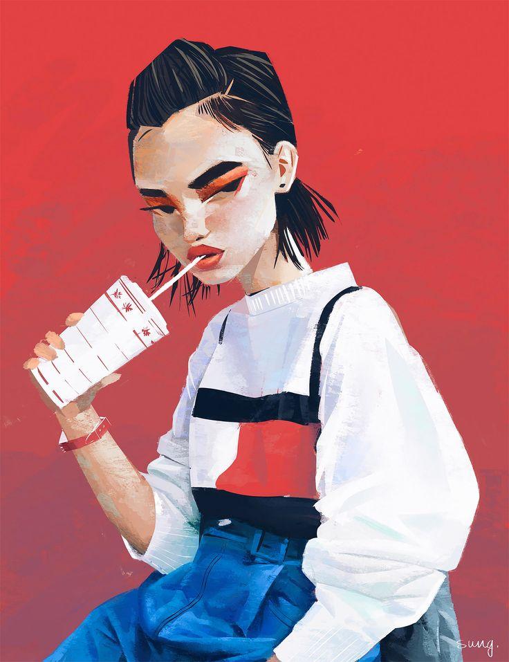 Beautiful Illustrated Portraits by Janice Sung – Neve Nev