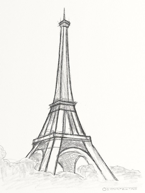 drawings of towers   Eiffel Tower Quick Sketch « Bombay Drift