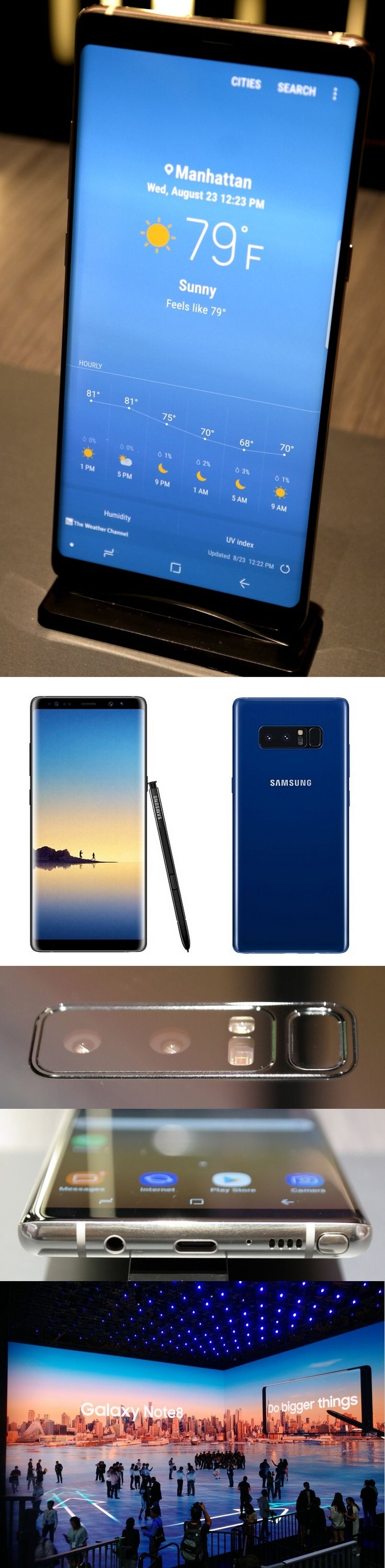 The Samsung Galaxy Note 8 is a proud, yet humble smartphone which seems ready to extinguish the smoke-and-fire issues of the doomed Note 7. The Note 8 has a curved 6.3-inch Infinity Display like the Galaxy S8 and S8+ and a new S Pen stylus which lets you write on the screen at any time. DSLR-like image stabilization is built into the two 12MP rear cameras and, unlike Apple's iPhones, the Note 8 has a headphone jack and a microSD slot for extra storage. But $930? On sale Sept. 15…