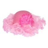 Childs Pink Feather Tea Party Hat