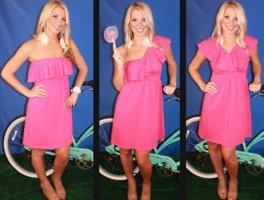 This is the perfect dress for all body types and can be worn many different ways.