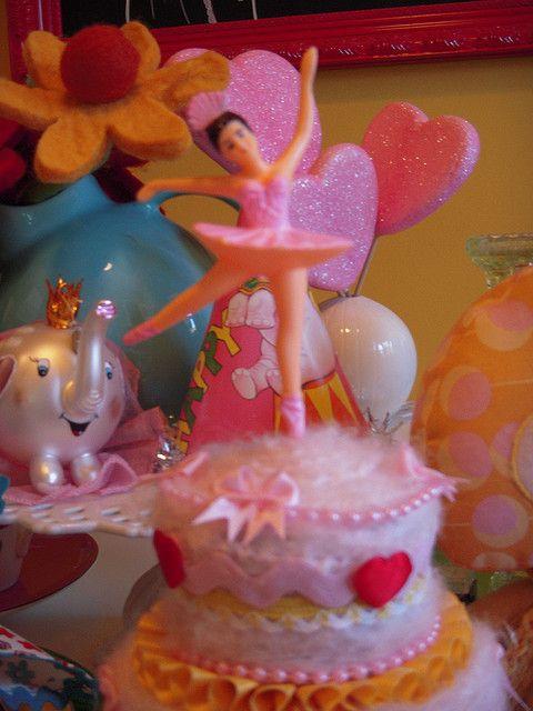 Ballerina Cake | by itty bitty birdy | Ballerina Cupcake Toppers | Pi ...
