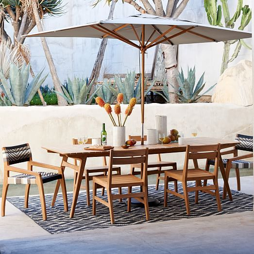 midcentury dining table teak west elm