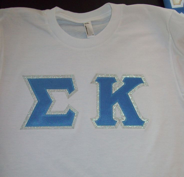 52 best sorority letter shirts images on pinterest greek for Sorority sewn on letters
