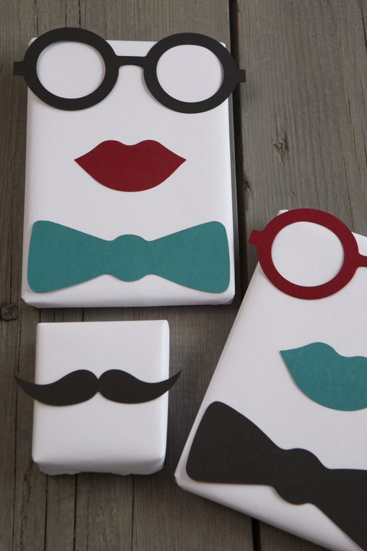 Fun and easy gift wrap! ..... or a PhotoBooth Party Theme Favor!
