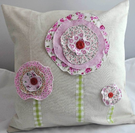 ...use fabric left from curtains to make coordinating pillows...use red materials to represent poppies.