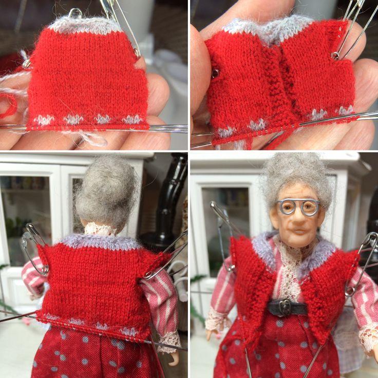 Joulunpunainen villatakki