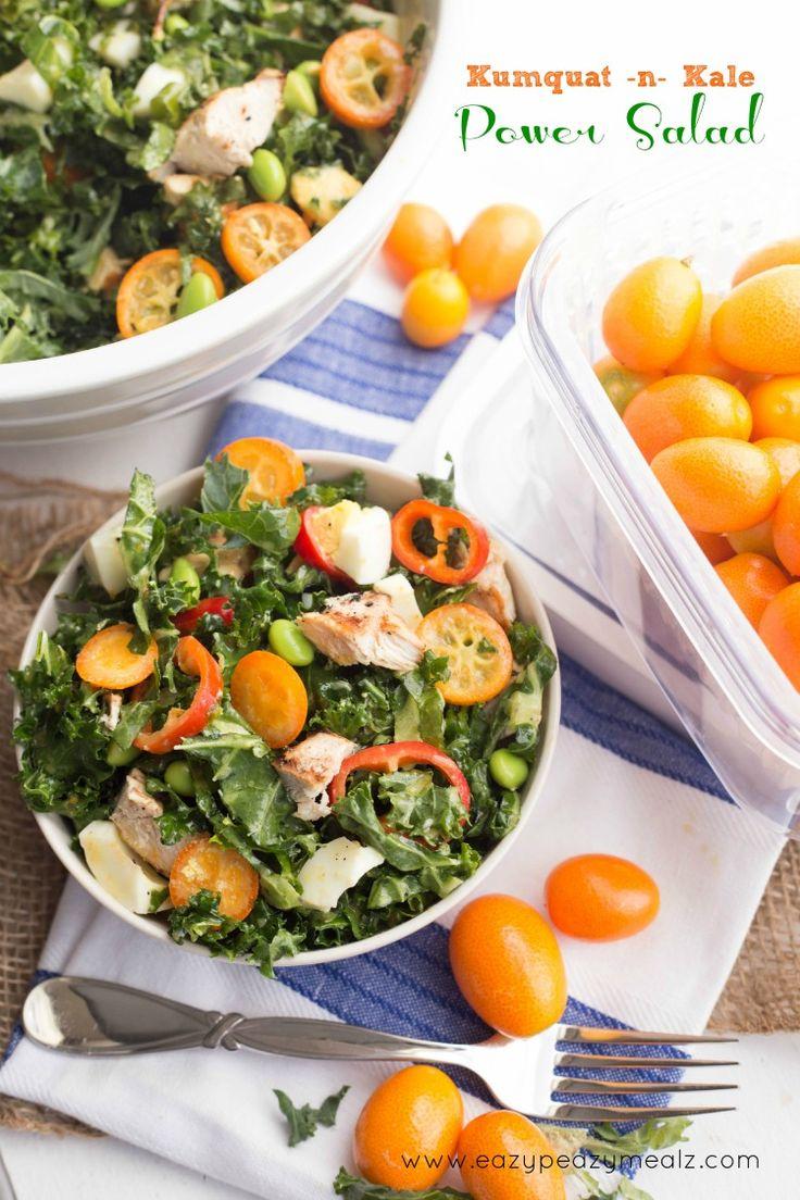 Kumquat n Kale Power Salad - Eazy Peazy Mealz