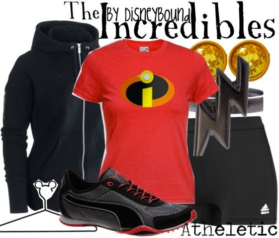 The Incredibles athletic outfit : I need this shirt to wear with some yoga pants. Comfy Disney outfit:)