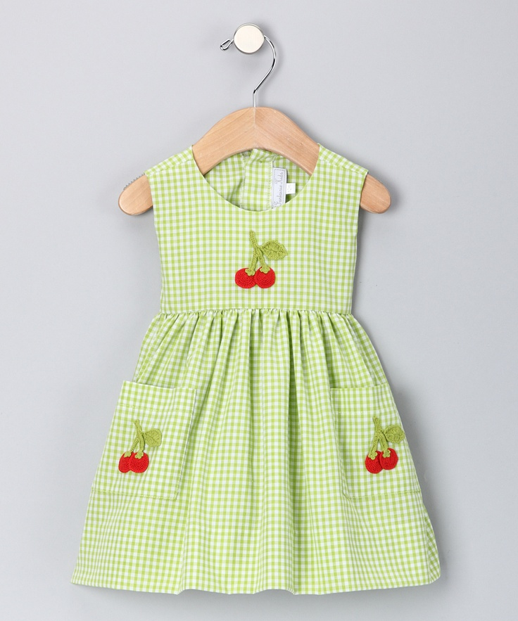 Lime Cherry Gingham A-Line Dress - Infant & Toddler | Daily deals for moms, babies and kids