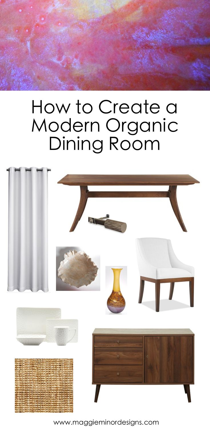 How to make seat cushions for dining chairs moreover white resin - How To Create A Modern Organic Dining Room With Colorful Artwork