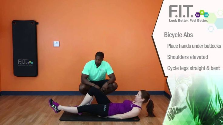 F.I.T. Exercises - Bicycle Abs  http://myforeverfit.flp.com