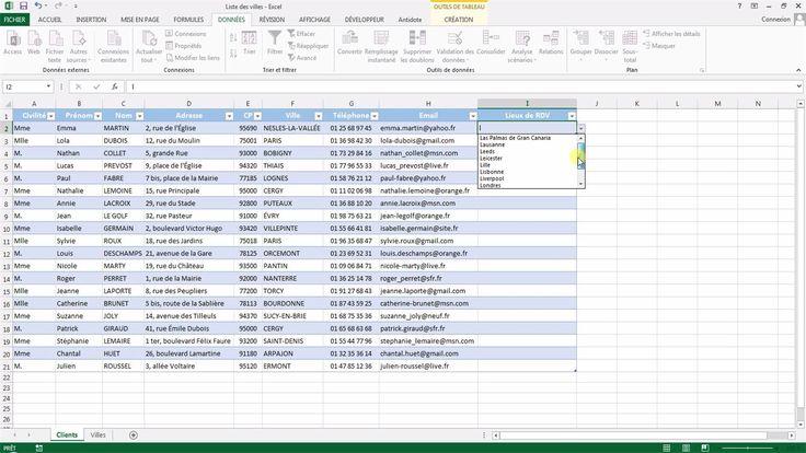 Tutoriel vidéo pour apprendre à créer une liste déroulante semi-automatique avec Excel. Utiliser les formules decaler, nbval, nbsi et si sur excel. Comment gérer les noms sur Excel et comment créer une formule nommée sur Excel ?  Pour lire ce tutoriel en version texte, rendez-vous sur Votre Assistante : http://www.votreassistante.net/creer-liste-deroulante-excel-semi-automatique